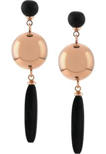 Isabel Marant Metallic Ball Earrings - Preto