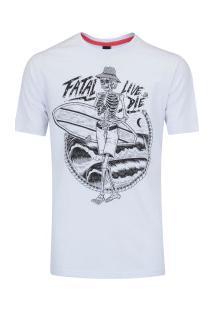 Camiseta Fatal Estampada 20243 - Masculina - Branco