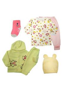 Roupinhas De Bebê Kit 6 Pçs Bebê Confortável Bonito Enxoval Rosa