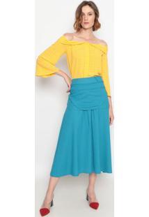 Blusa Ciganinha Com Babado- Amarelala Chocolãª