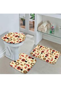 Jogo Tapetes Para Banheiro Quebra Nozes