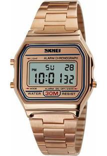 1142cf9a1ea Relógio Digital Digital Dourado feminino