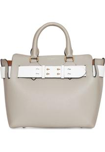 Burberry Bolsa The Small Com Cinto - Cinza