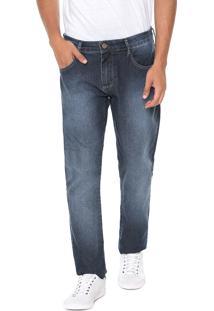 Calça Jeans Triton Reta Estonada Azul
