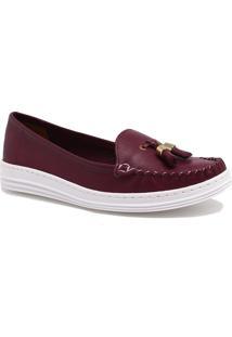 Sapato Mocassim Zariff Shoes Barbicacho Roxo