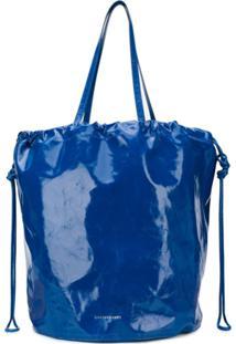 Sharkchaser Logo Embossed Bucket Bag - Azul