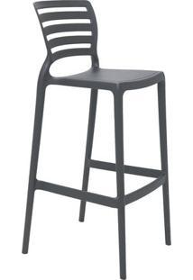 Cadeira Alta Sofia- Cinza- 104X49,5X47Cm- Tramontramontina