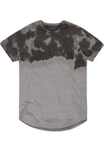 Camiseta Khelf Tie-Dye Mescla Cinza