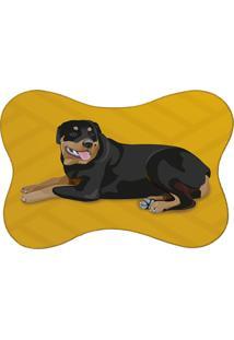 Tapete Mdecore Pet Rottweiler Amarelo 46X33Cm