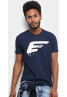 Camiseta Ellus Cotton Fine Painted Easa Classic Masculina - Masculino-Azul Escuro