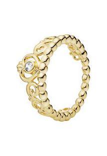 Anel Tiara De Princesa Banhado Á Ouro- Dourado- Tamapandora