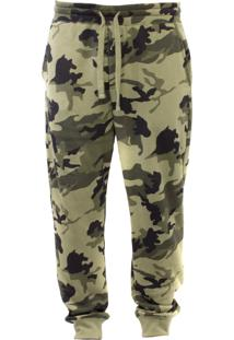 Calça De Moletom Blanks Co Camo Verde