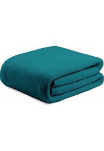 Cobertor Super Soft Casal- Verde Escuro- 180X220Cm