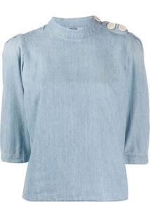 Ba&Sh Blusa Jeans Gaolo - Azul