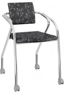 Cadeira 1713 Carraro Fantasia Preto