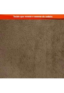 Conjunto Mesa Tampo De Vidro Preto Lavínia E 4 Cadeiras Olímpia Leifer Imbuia Mel/Branco/Animale Capuccino