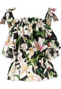 Dolce & Gabbana Blusa Com Estampa De Lírios - Colorido