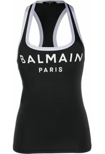 Balmain Regata Com Estampa De Logo - Preto