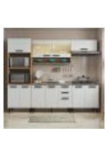 Cozinha Compacta New Jazz I 11 Pt 2 Gv Off White E Freijó
