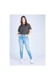 Calça Jeans Cigarrete Azul Claro Gang Feminina