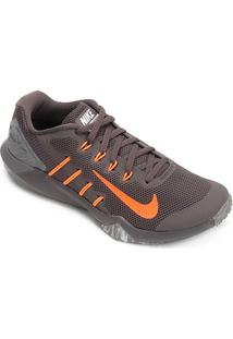 Tênis Nike Retaliation Tr 2 Masculino - Masculino-Cinza+Laranja