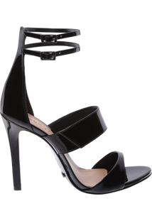 Sandália Multi Strip Verniz Black | Schutz
