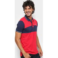 7f6fafa22b Camisa Polo Wrangler Masculina - Masculino-Vermelho+Marinho