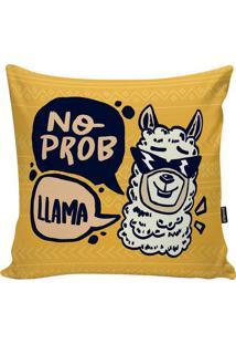 Capa De Almofada Lhama- Amarelo Escuro & Preta- 45X4Stm Home