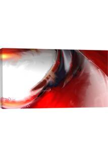 Quadro Abstrato Vermelho Ii 55X100Cm