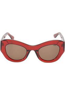 Óculos Helo Solar Cristal Livo - Vermelho