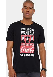 Camiseta Coca-Cola Sixpack Masculina - Masculino