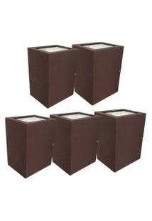Arandela Premium Marrom Kit Com 5 Casah