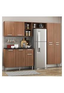 Cozinha Completa Compacta Pequim Up Multimóveis Com Balcáo - Madeirado