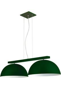 Pendente 6001 Redondo 2 Lâmpadas Verde Bivolt Pantoja&Carmona