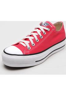 Tênis Flatform Converse Chuck Taylor All Star Lift Seasonal Rosa - Kanui