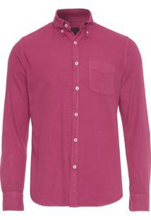 Camisa Masculina Oxfor Tinturada - Rosa