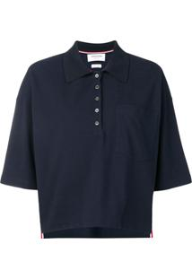 Thom Browne Camisa Polo Oversized - Azul