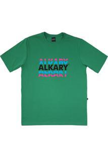 Camiseta Alkary Logotipia Verde