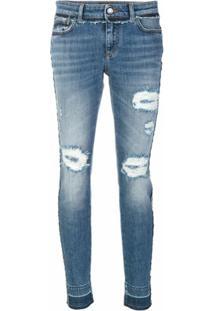 Dolce & Gabbana Calça Jeans Slim Devorê - Azul