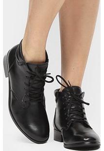 Bota Couro Coturno Shoestock Feminina - Feminino