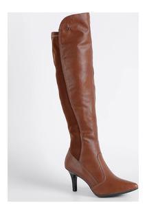 Bota Feminina Over The Knee Bico Fino Mississipi X9184
