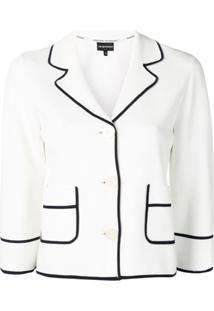 Emporio Armani Blazer Com Acabamento Contrastante - Branco