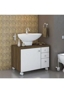 Gabinete Para Banheiro 1 Porta Mimo Albatroz Móveis Não Acompanha Cuba Cedro/Branco