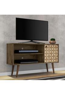 Rack Para Tv Até 42 Polegadas 1 Porta 1 Prateleira Jade 2075108 Madeira Rústica/Madeira 3D - Bechara Móveis