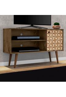 Rack Para Tv Jade Madeira Rústica/Madeira 3D - Móveis Bechara