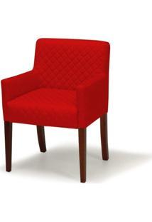 Poltrona Domi Decorativa Joy 1 Lugar Tressê C173 Vermelha