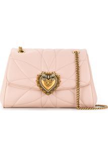 Dolce & Gabbana Bolsa Tiracolo Devotion - Rosa