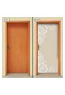 Adesivo Decorativo De Porta - Flores - 1818Cnpt