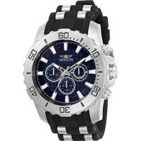 e6c39b2482b Relógio Invicta Analógico Pro Diver - 22559 Masculino - Masculino-Prata +Preto