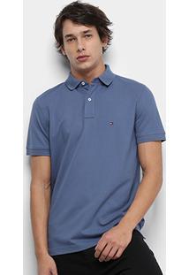 Camisa Polo Tommy Hilfiger Regular Masculina - Masculino-Azul Royal